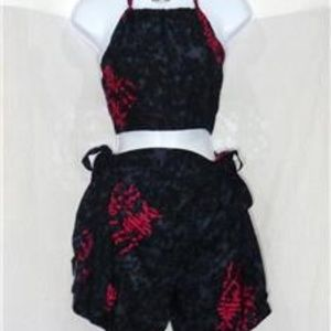 Other - TAHITI TIE WRAP BLACK AND RED FISH SARONG 2 PIECE